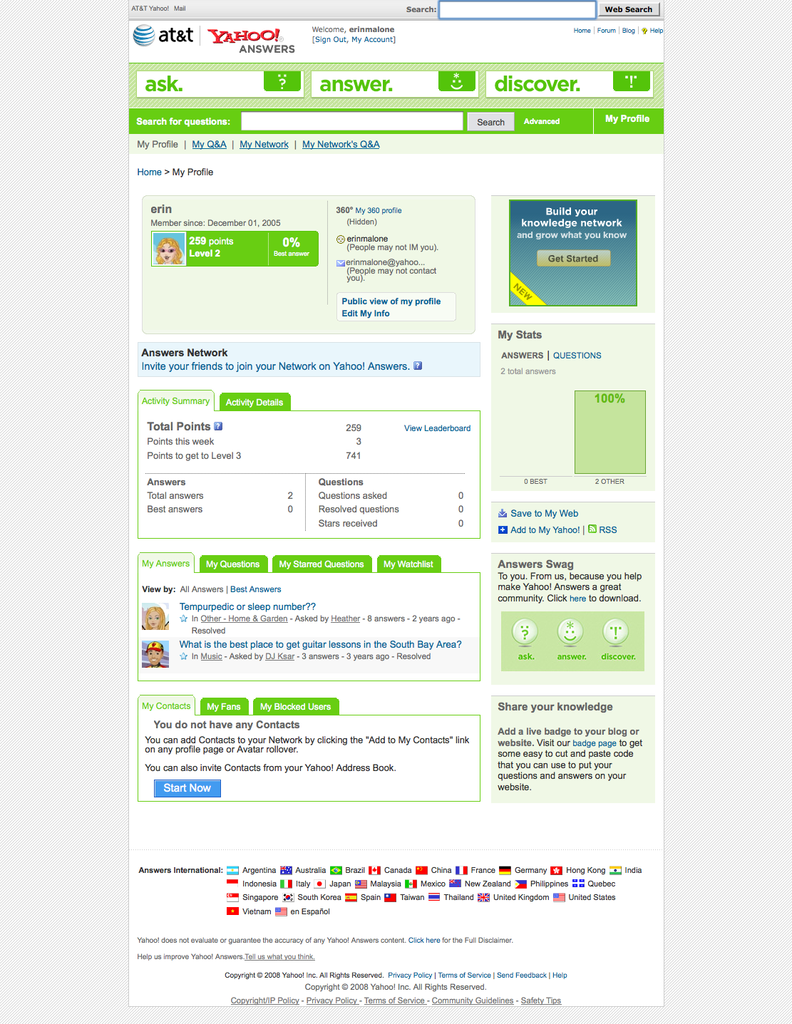 Profile social patterns contextual profile on yahoo answers stopboris Images